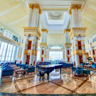 Immerse yourself in opulence and quietude at The Empire Brunei. Sit back, unwind and let your senses be enchanted by the stunning grand golden-white atrium.  #discoverbrunei #travelgram #instatravel #travelasia #travelinspiration #travelphotography #travel #wanderlust #destinationearth #seetheworld